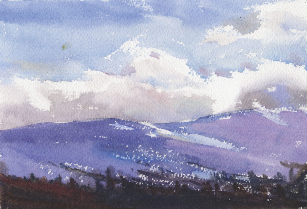 Cle Elum Sky by Catherine Gill | Techniques for Painting Outdoors, How to Paint the Earth, Sky and Sea in Landscapes | Watercolor Artist, Artists Network