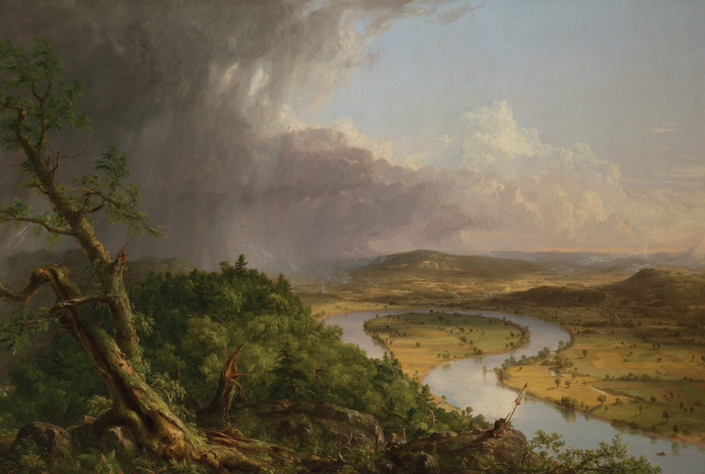 View From Mount Holyoke, Northampton, Massachusetts, After a Thunderstorm--The Oxbow by Thomas Cole, oil on canvas, 1836