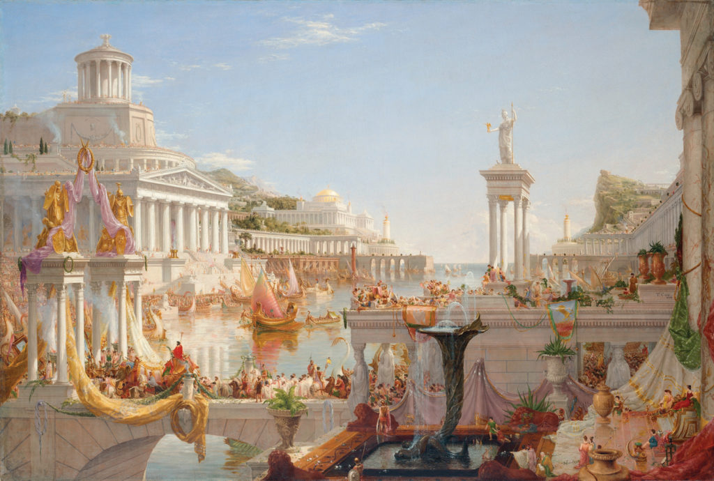The Course of Empire: The Consummation of Empire by Thomas Cole, oil on canvas, 1835-36
