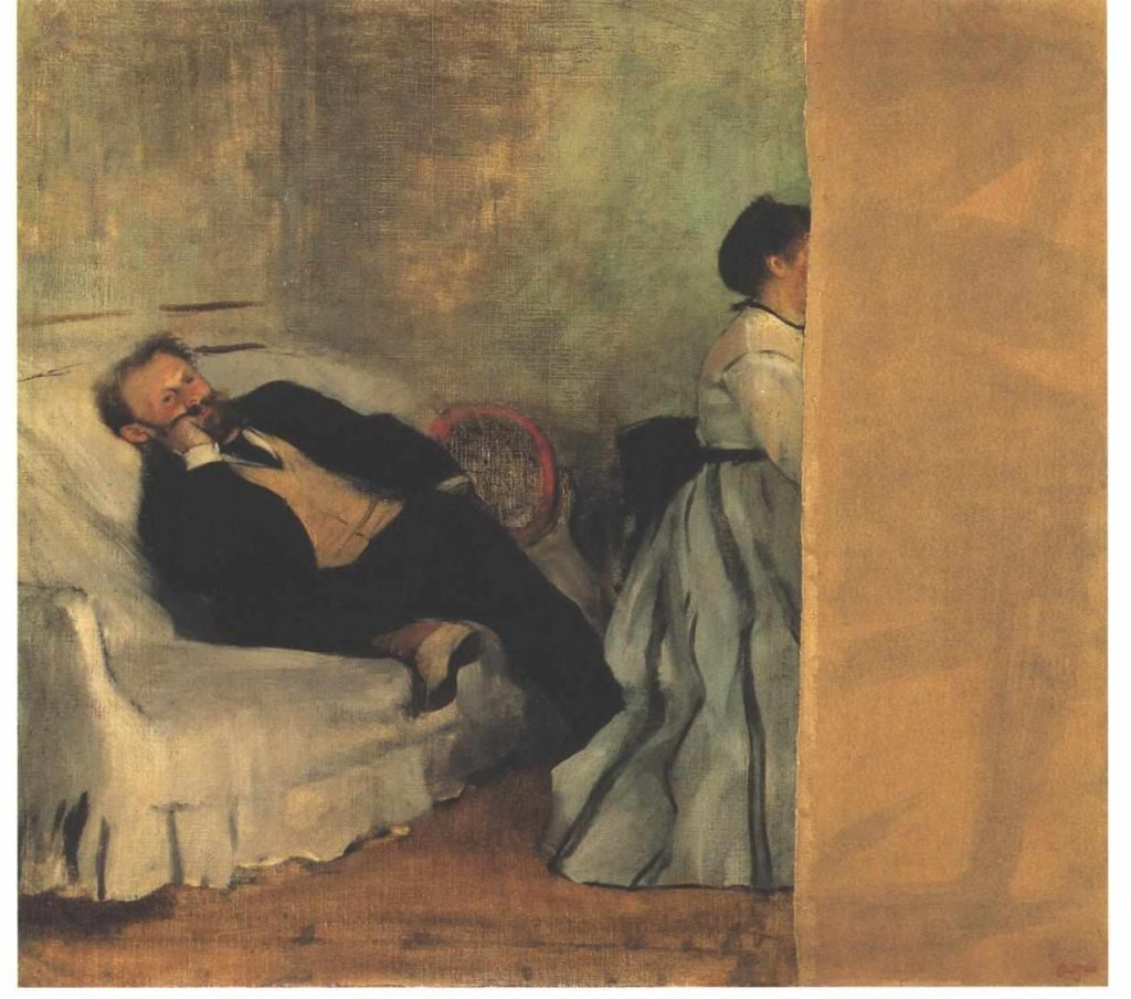 Edouard Manet and Mme Manet by Edgar Degas, 1868