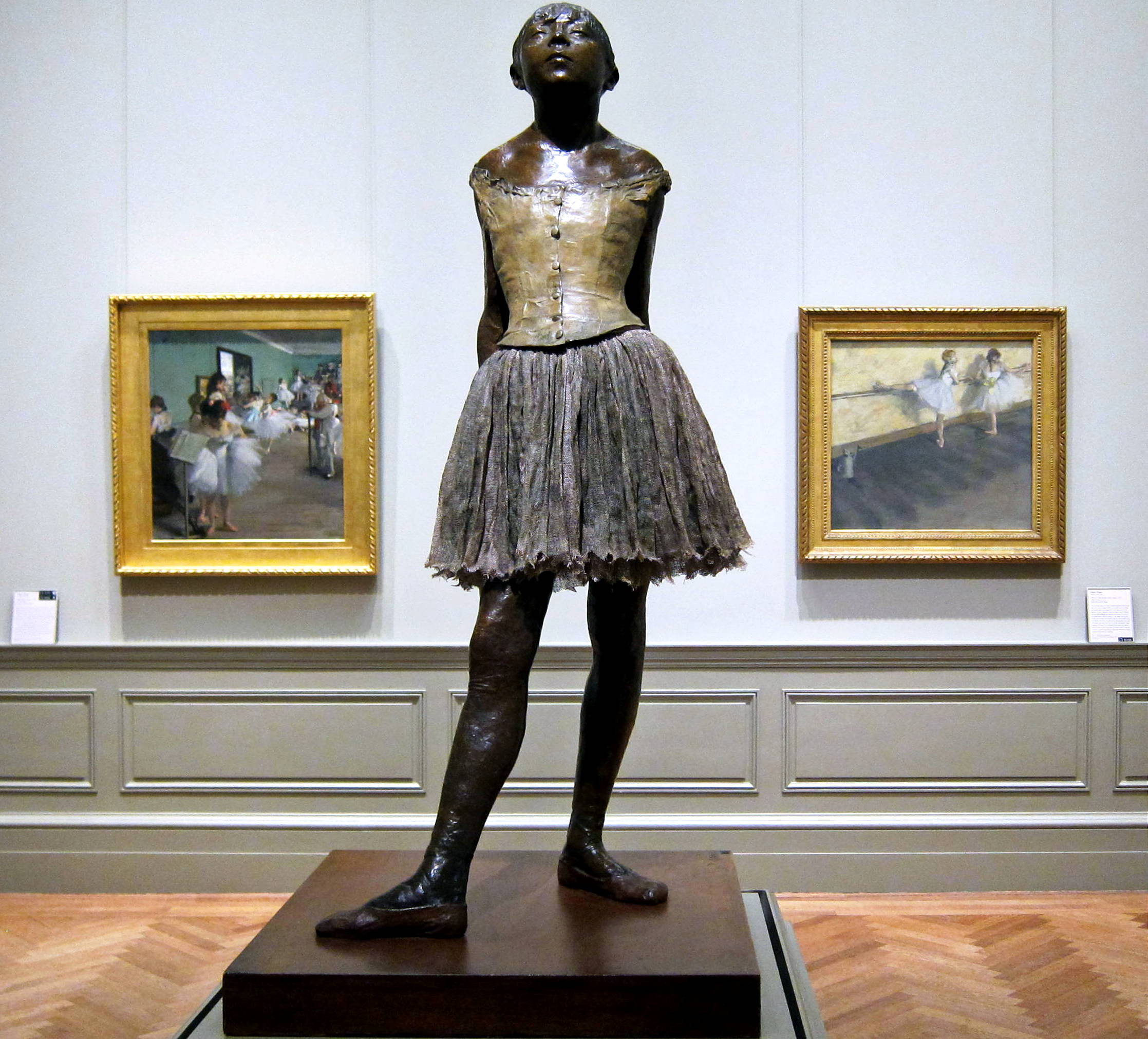Little Dancer of Fourteen Years by Edgar Degas, cast posthumously in 1922, bronze