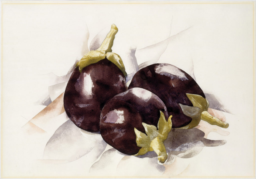 Eggplants by Charles Demuth | Exploring Perspective in Still Lifes, article by Kenneth J. Procter, Artists Network