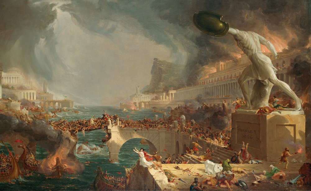 The Course of Empire: Destruction by Thomas Cole, oil on canvas, 1836