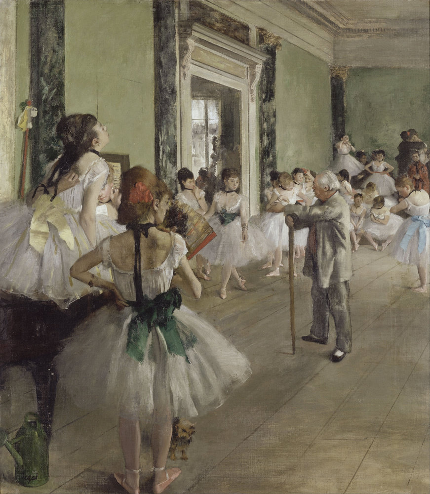 The Dance Class by Edgar Degas, 1873-76