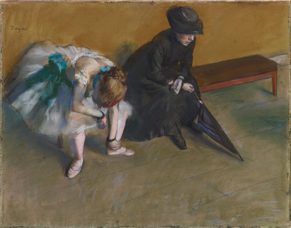Waiting by Edgar Degas, pastel, 1880