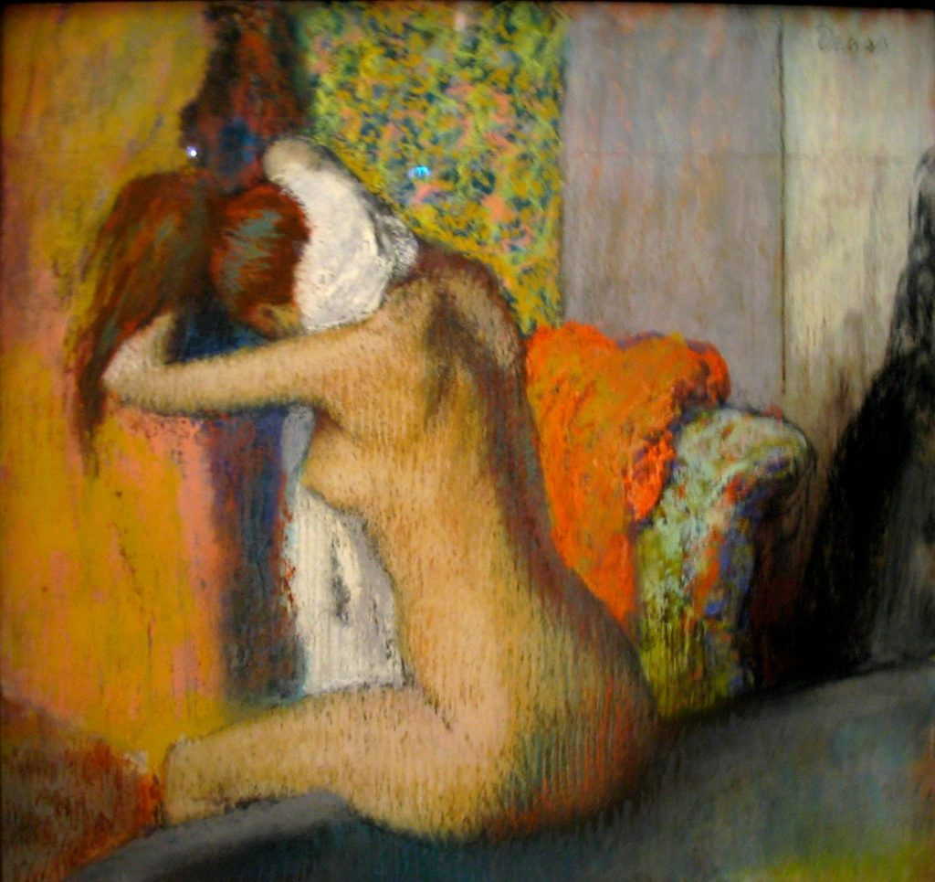 After the Bath, Woman Drying Her Nape by Edgar Degas, 1898