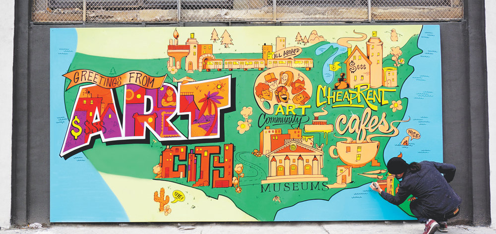 Art Cities Mural by Anthony Arias