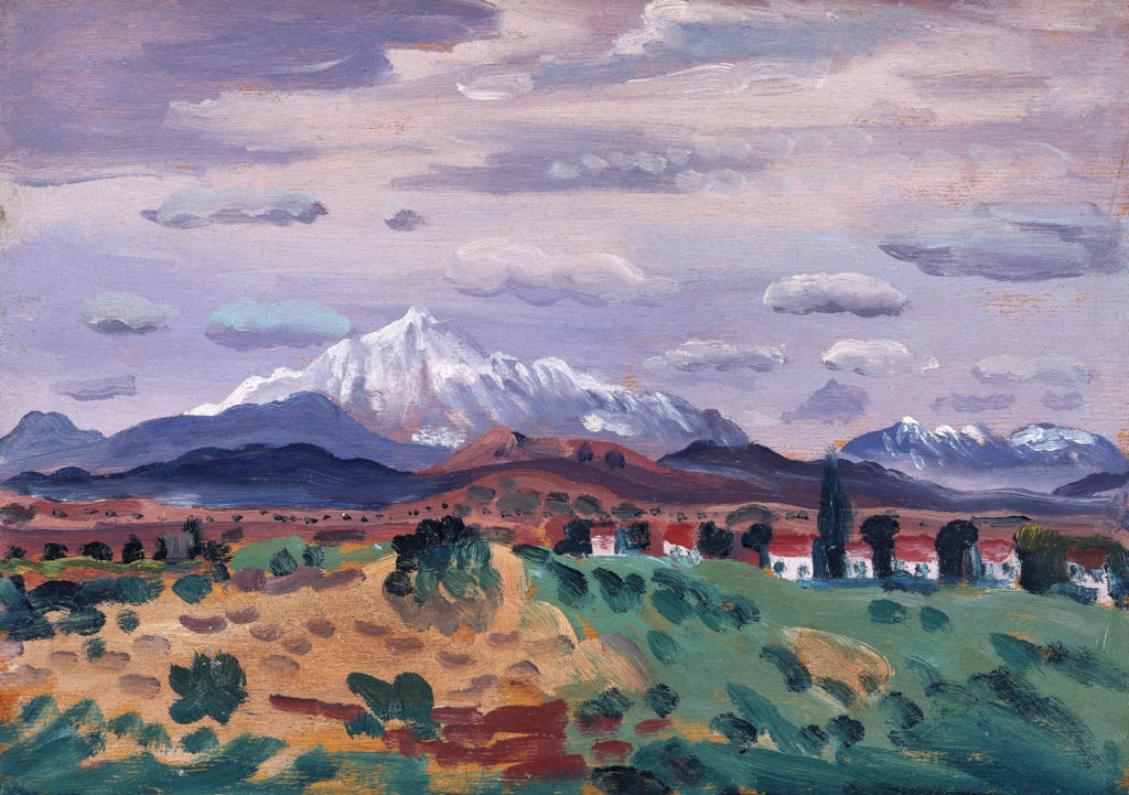 Canigou In Snow by James Dickson Innes 1908-1914; oil on panel, 9x12