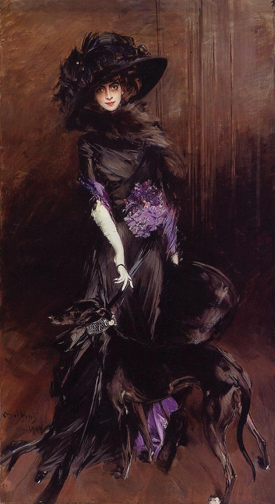 Ultraviolet: La Marchesa Luisa Casati by Giovanni Boldini 1908; oil on canvas