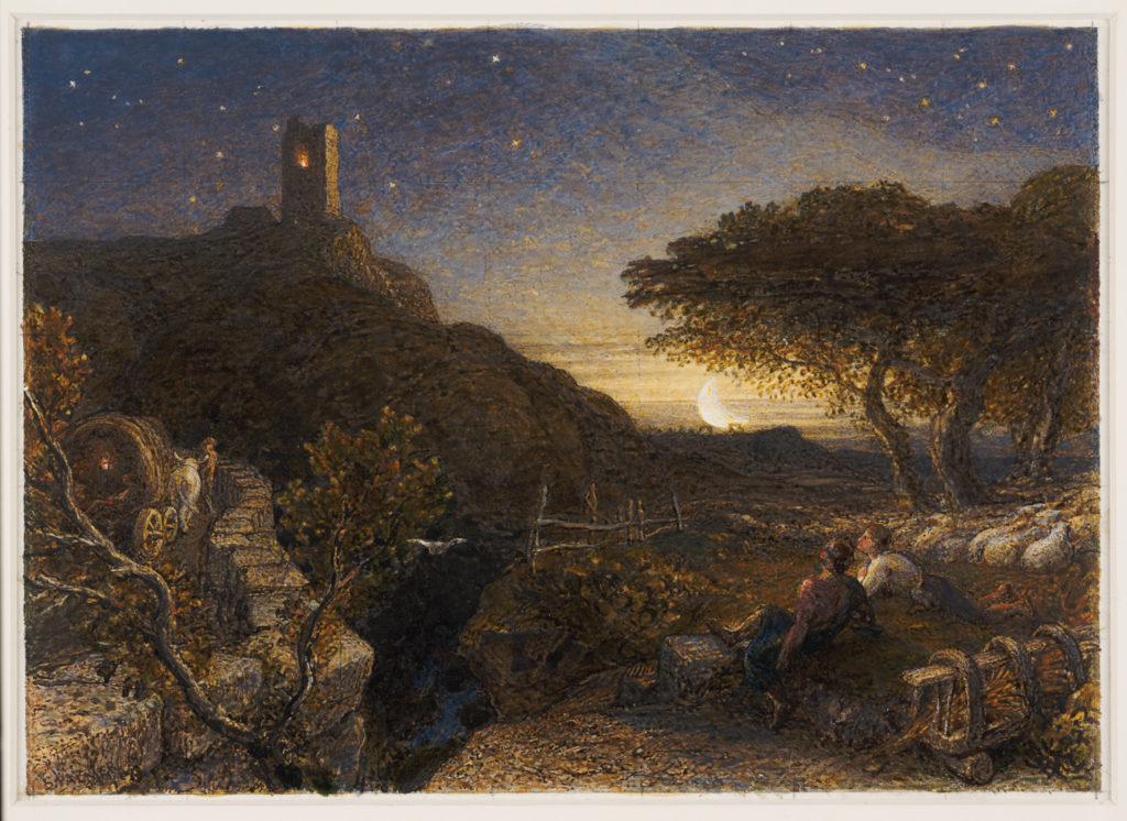 The Lonely Tower by Samuel Palmer (1880; watercolor and gouache, 6⅝ x9¼ ) Selected by Melinda McCurdy, Associate Curator, British Art, Huntington Library, Art Collections, and Botanical Gardens, San Marino, Calif.