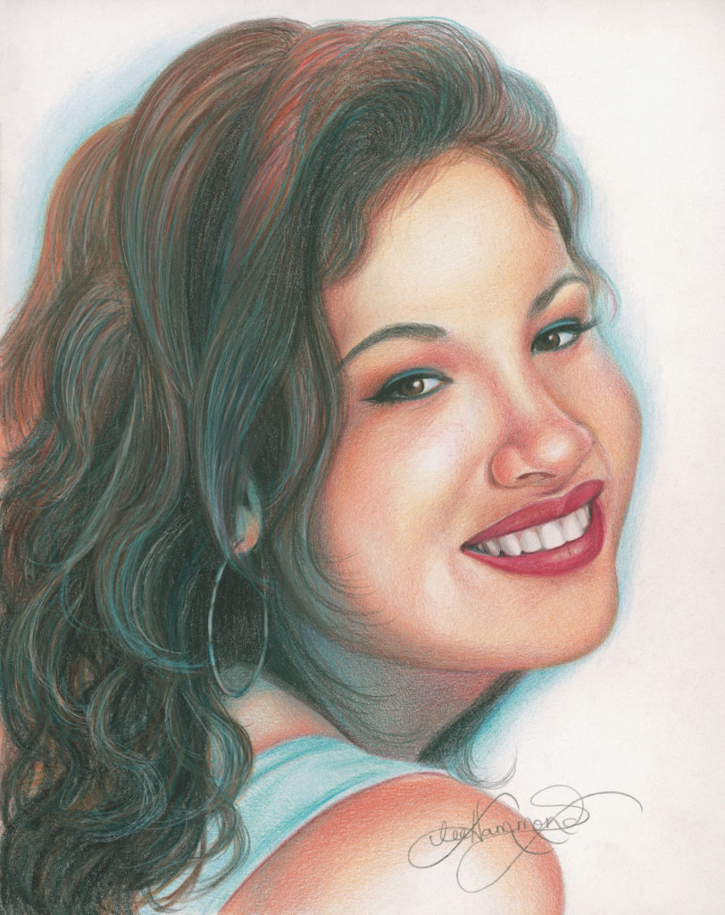 Portrait by lee hammond drawing hair for beginners in graphite and colored pencil artists