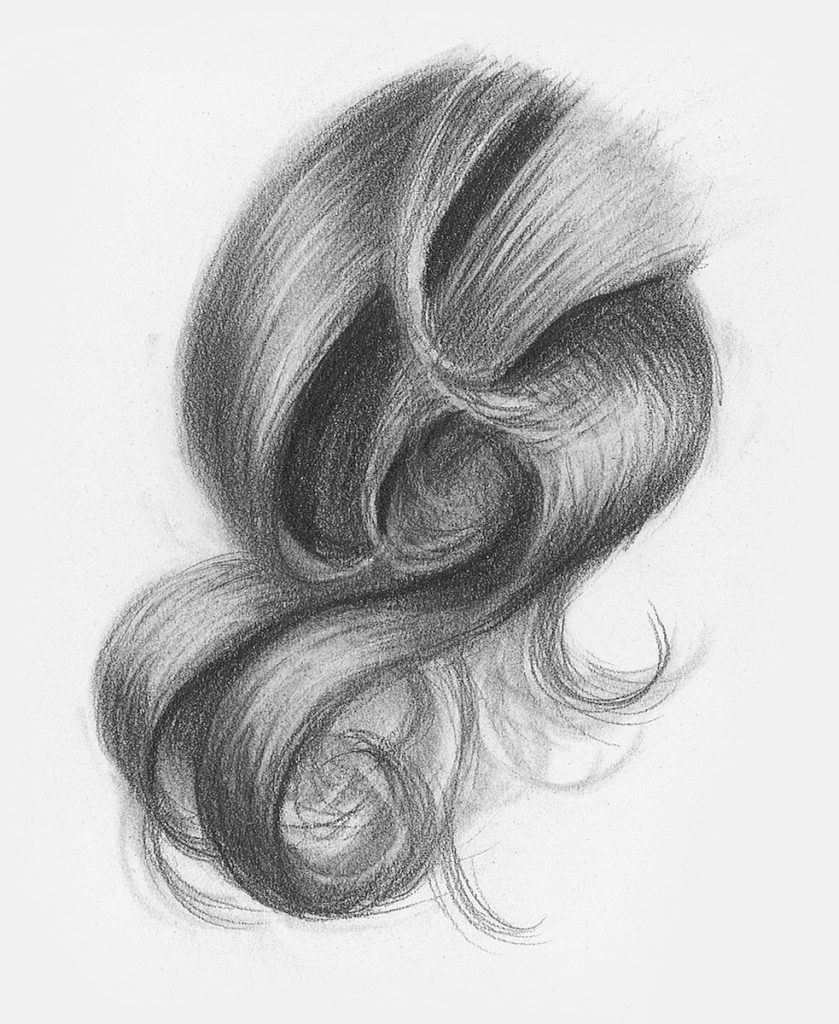 Curly hair demo step 3 lee hammond drawing hair for beginners in graphite