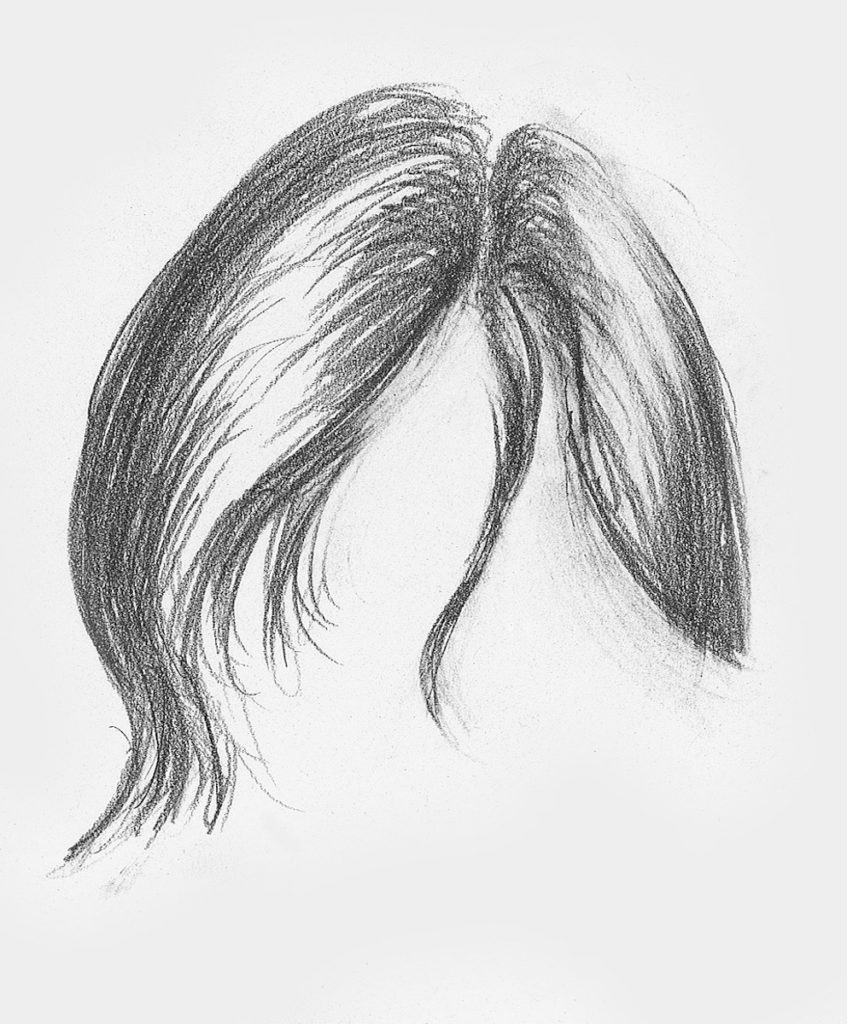 Hair Sketches Step By Step Pencil Sketch