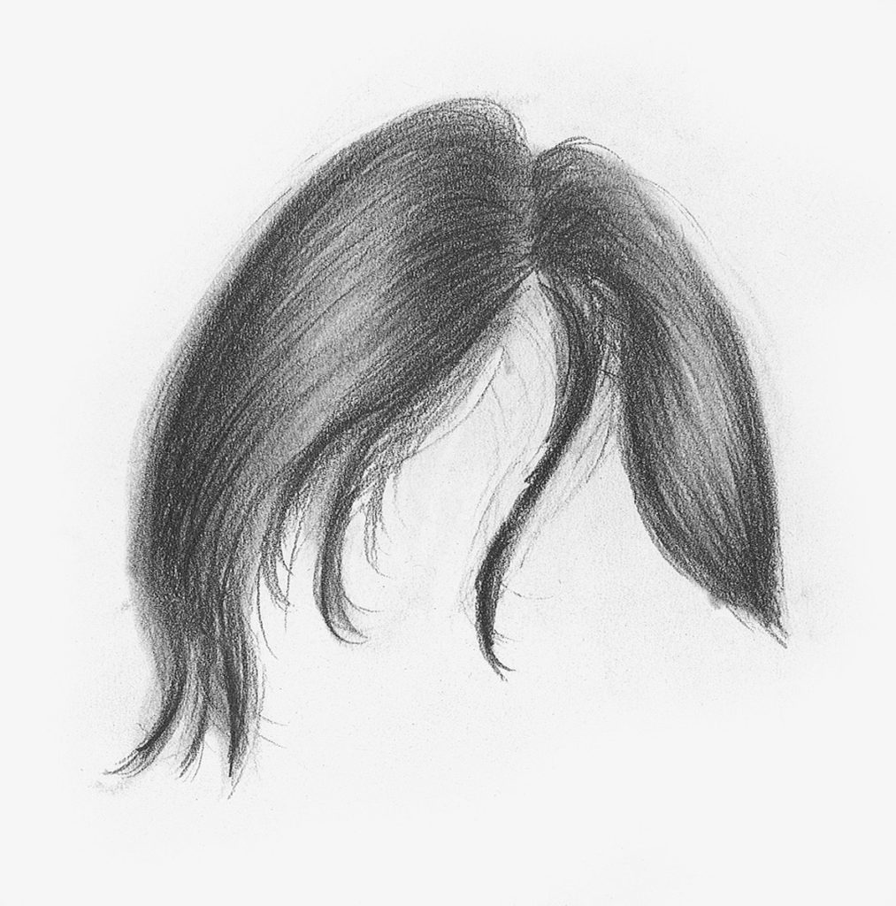 Straight hair demo step 3 lee hammond drawing hair for beginners in graphite