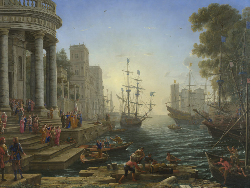 Seaport With the Embarkation of Saint Ursula by Claude Lorrain, 1641