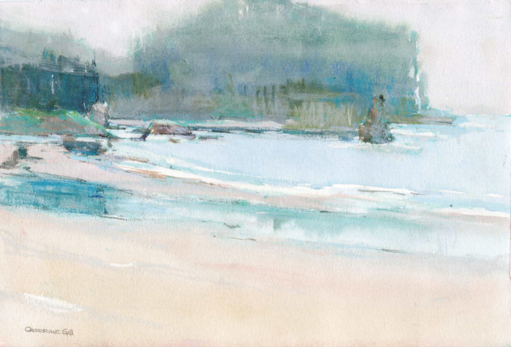 Neah Bay Mist by Catherine Gill | Techniques for Painting Outdoors, How to Paint the Earth, Sky and Sea in Landscapes | Watercolor Artist, Artists Network
