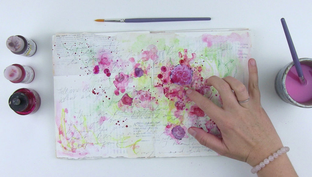 How to Paint Abstract Flowers with Laly Mille, Figure 7 | Artists Network