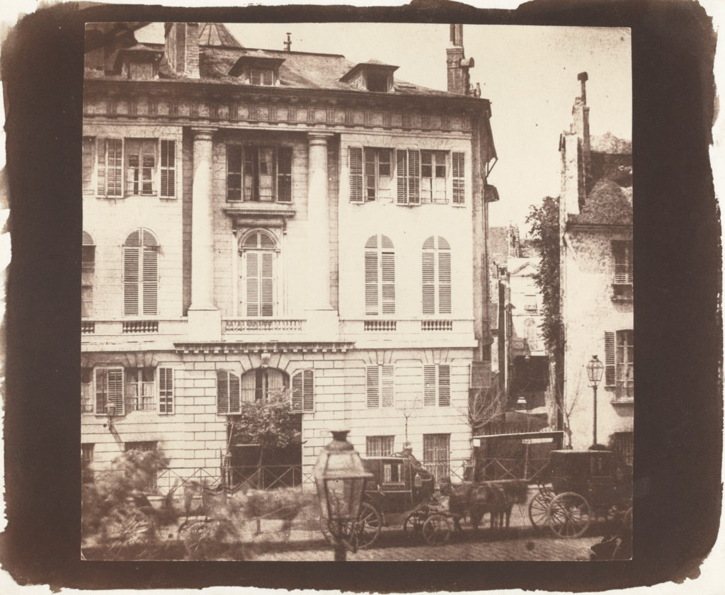 Sepia color story: The Boulevards of Paris by William Henry Fox Talbot 1843; salted paper print, 6⁹⁄₁₆×6¾ from the National Gallery of Art, DC