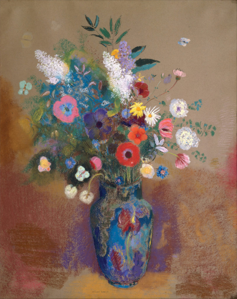 Bouquet of Flowers by Odilon Redon | Exploring Perspective in Still Lifes, article by Kenneth J. Procter, Artists Network
