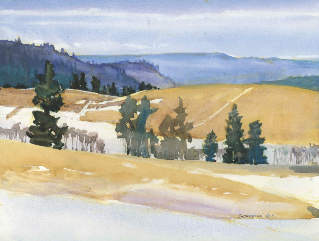 Swauk Valley by Catherine Gill | Techniques for Painting Outdoors, How to Paint the Earth, Sky and Sea in Landscapes | Watercolor Artist, Artists Network