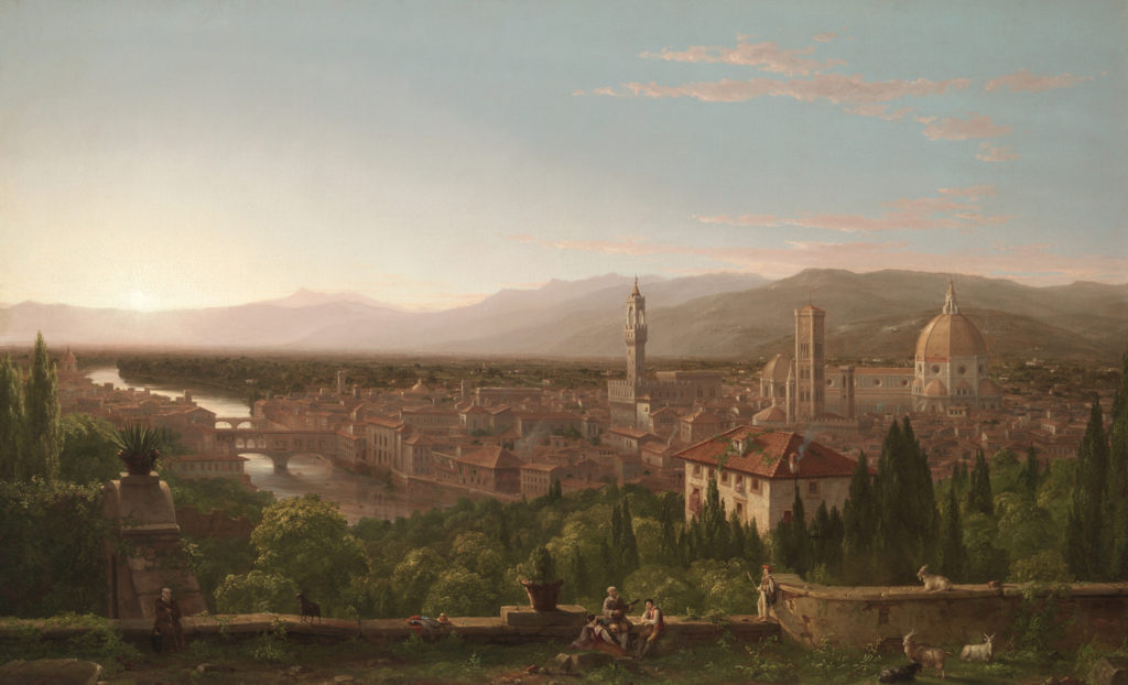 View of Florence from San Miniato by Thomas Cole, oil on canvas, 1837