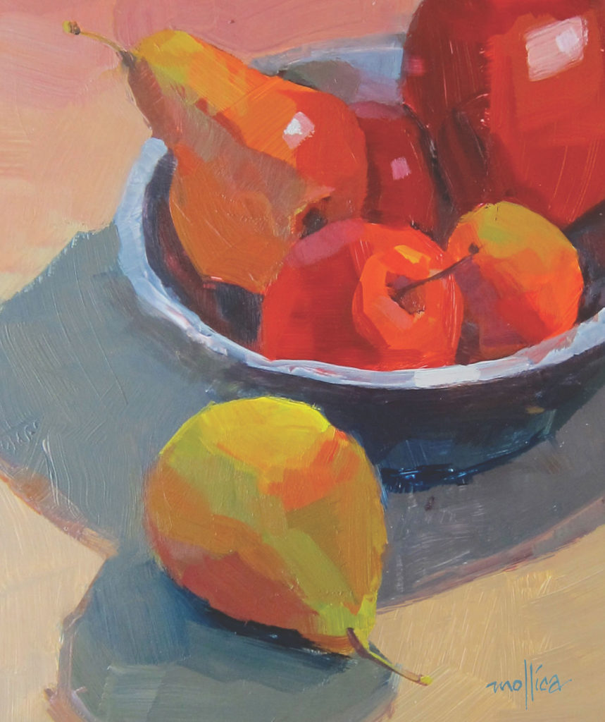 Example of good cropping in a painting by Patti Mollica | Painting Composition Tips for Beginners | Artists Network