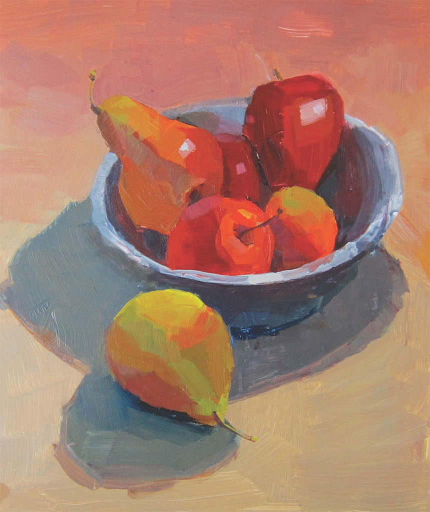 Example of poor cropping in a painting by Patti Mollica | Painting Composition Tips for Beginners | Artists Network