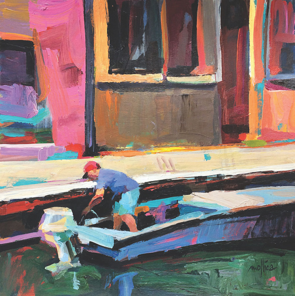 Burano Fisherman by Patti Mollica | Painting Composition Tips for Beginners | How To Create Bolder Paintings | Artists Network