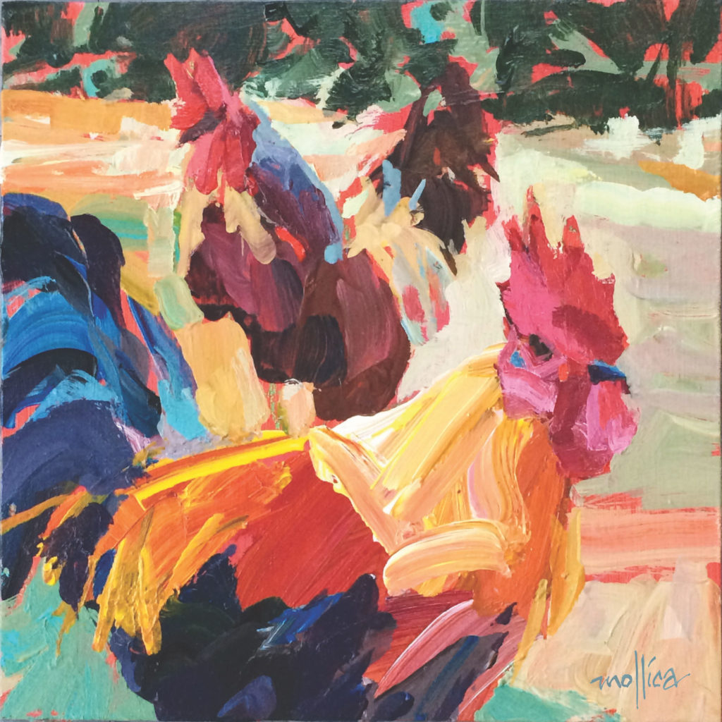 Chickadeaux by Patti Mollica | Painting Composition Tips | Artists Network