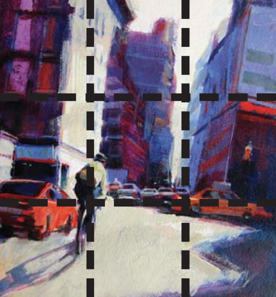 Rule of Thirds example by Patti Mollica | Painting Composition Tips for Beginners | Artists Network