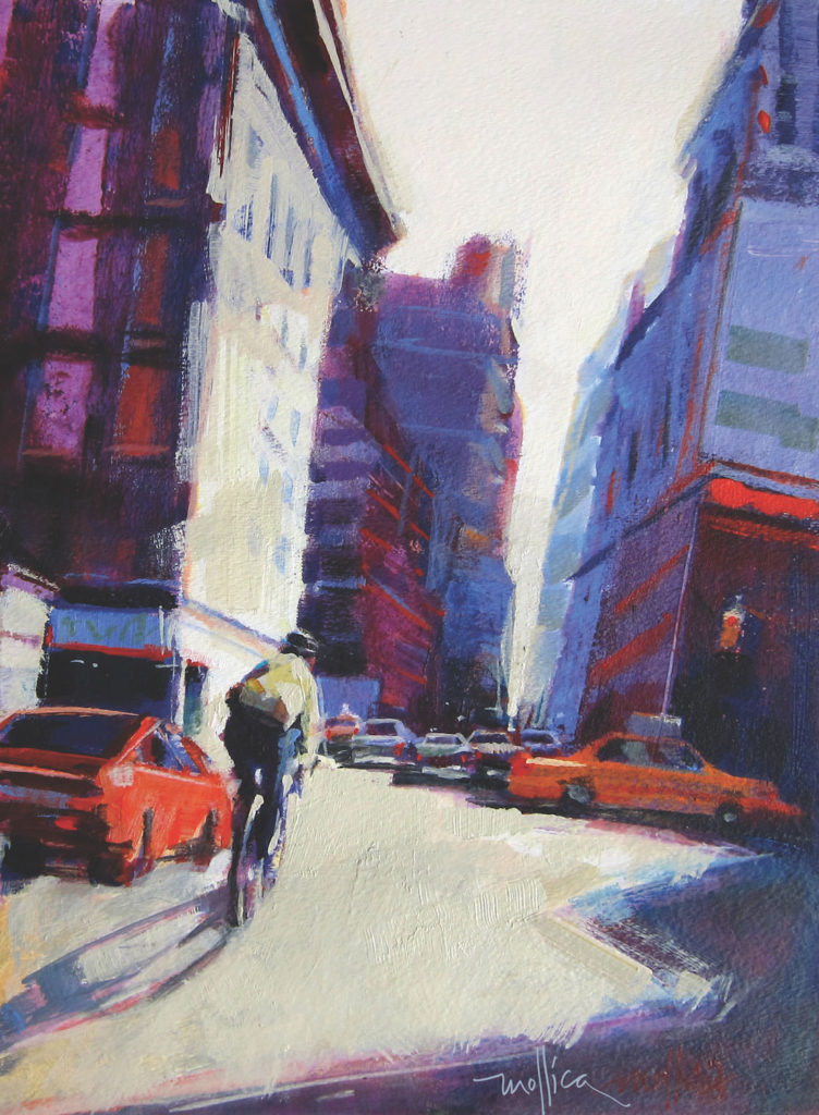 Zig Zag Through Midtown by Patti Mollica | Painting Composition Tips | Artists Network