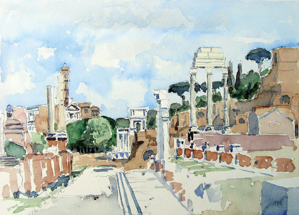 You can gain a strong impression of the city's layout and visit the high points of three important periods in Rome's history: antiquity, the Renaissance and the Baroque. Illustration by Stephen Harby