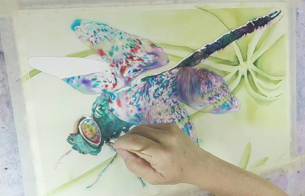 Brusho Demonstration with Ward Jene Stroud, step 4 | Watercolor Artist, Artists Network
