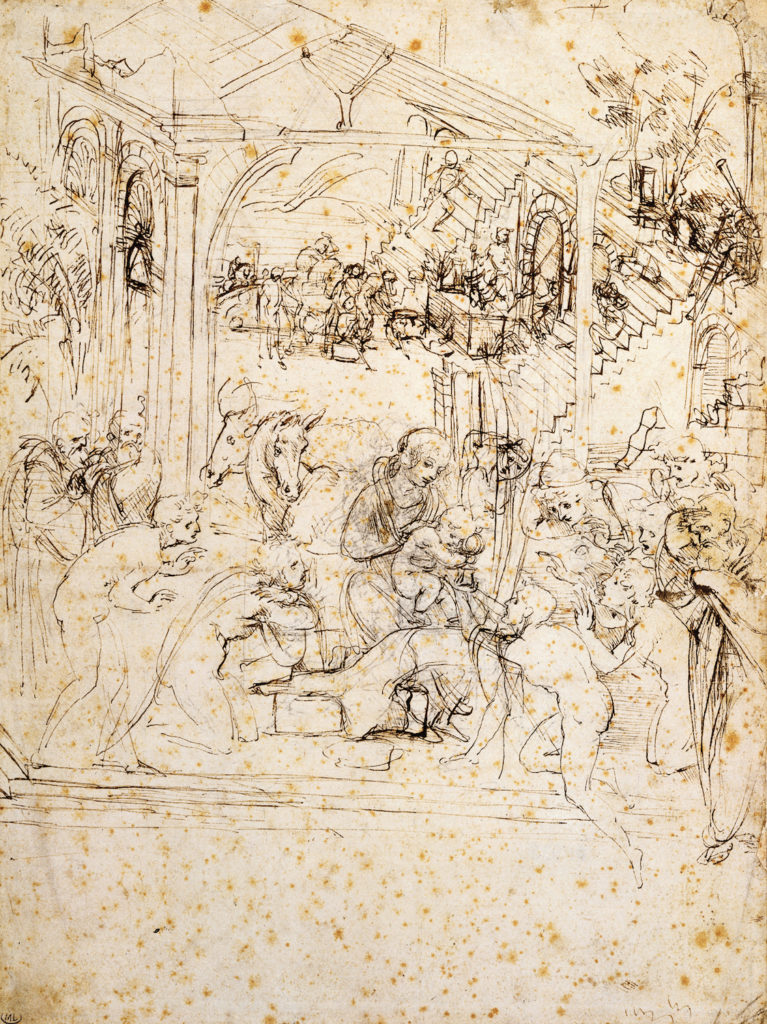 Design for The Adoration of the Magi by Leonardo da Vinci | Learning Linear Perspective with Patrick Connors | Artists Network