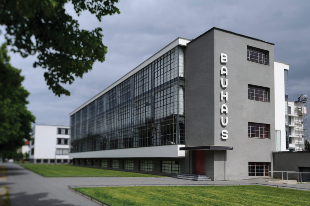 The Bauhaus building in Dessau, Germany, designed by Walter Gropius, housed the school from 1925 to 1932. Jens Schlueter/Getty Images