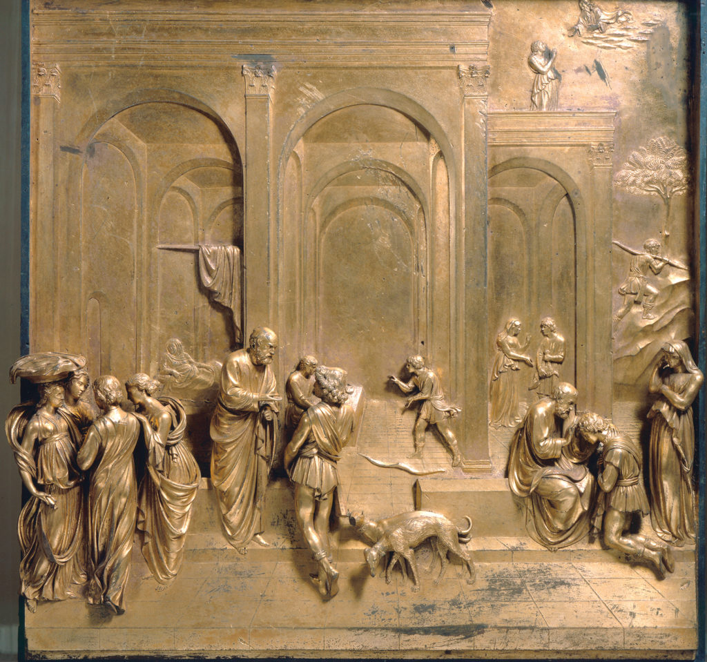 Jacob and Esau Panel (from Baptistery East Doors, San Giovanni, Florence) by Lorenzo Ghiberti | Learning Linear Perspective with Patrick Connors | Artists Network