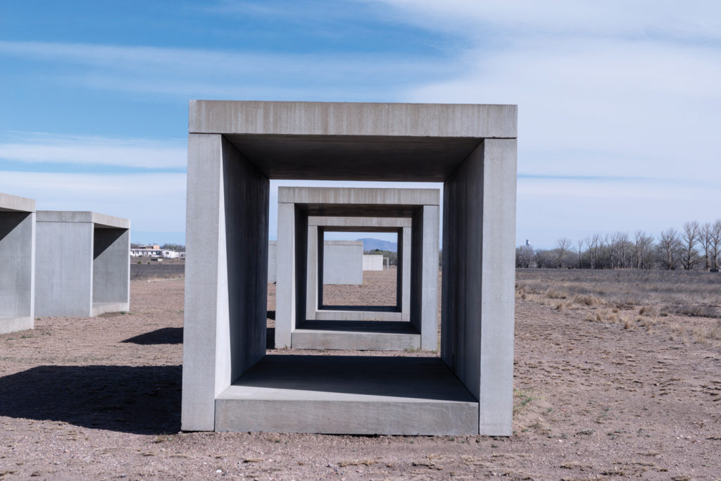 Donald Judd cubes in Marfa. Carol M. Highsmith / Buyenlarge / Getty Images