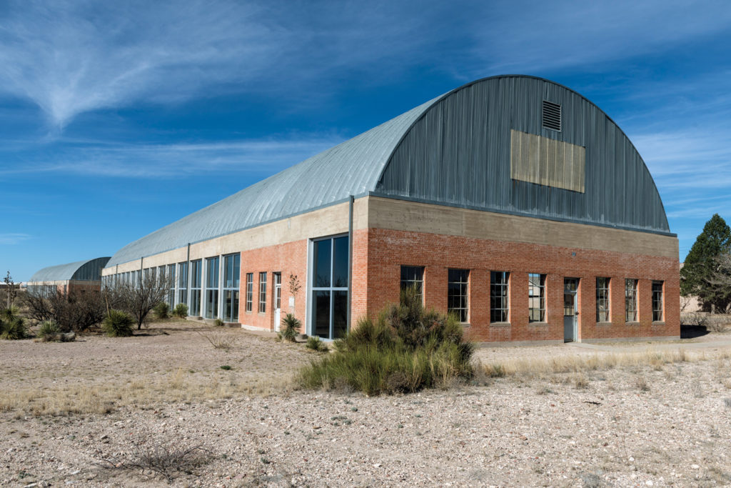 Headquarters of the Chinati Foundation, a contemporary art museum in Marfa. Carol M. Highsmith / Buyenlarge/ Getty Images.