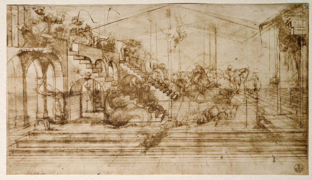 Perspective study of The Adoration of the Magi by Leonardo da Vinci | Learning Linear Perspective with Patrick Connors | Artists Network