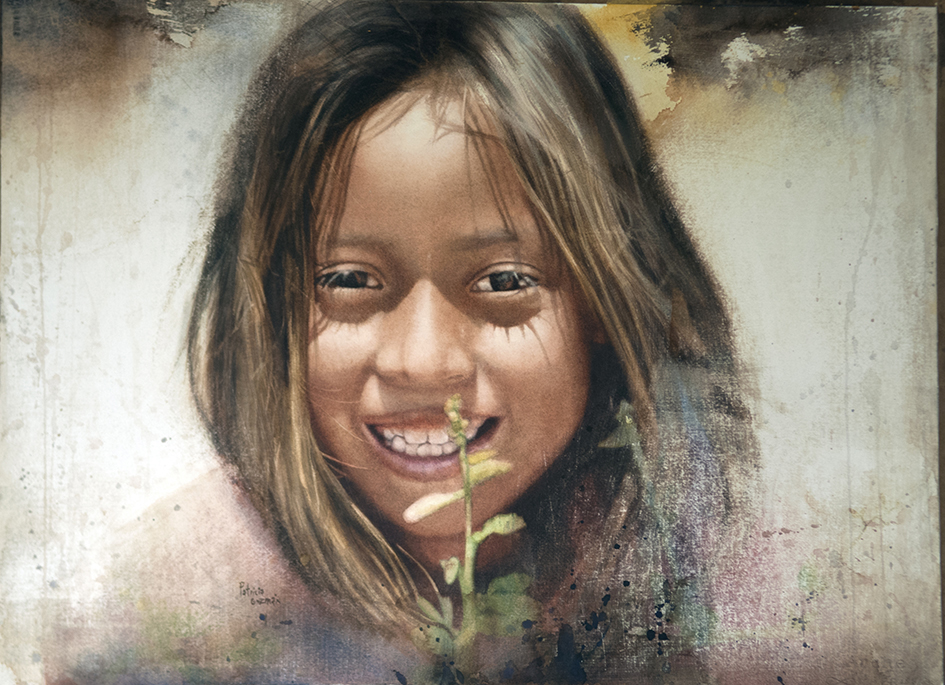 Happiness by Patricia Guzmán, watercolor painting.