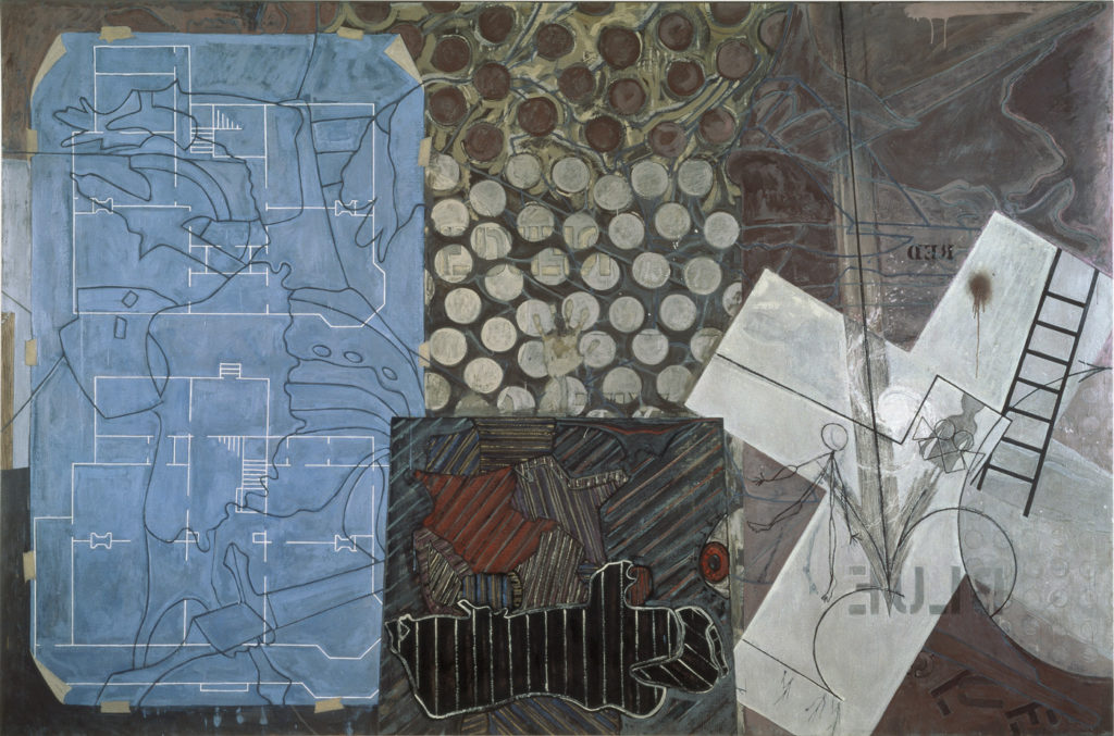 Untitled 1992–94; encaustic on canvas, 78½ x 118⅜. THE ELI AND EDYTHE L. BROAD COLLECTION. ART ©JASPER JOHNS/LICENSED BY VAGA, NEW YORK, NY