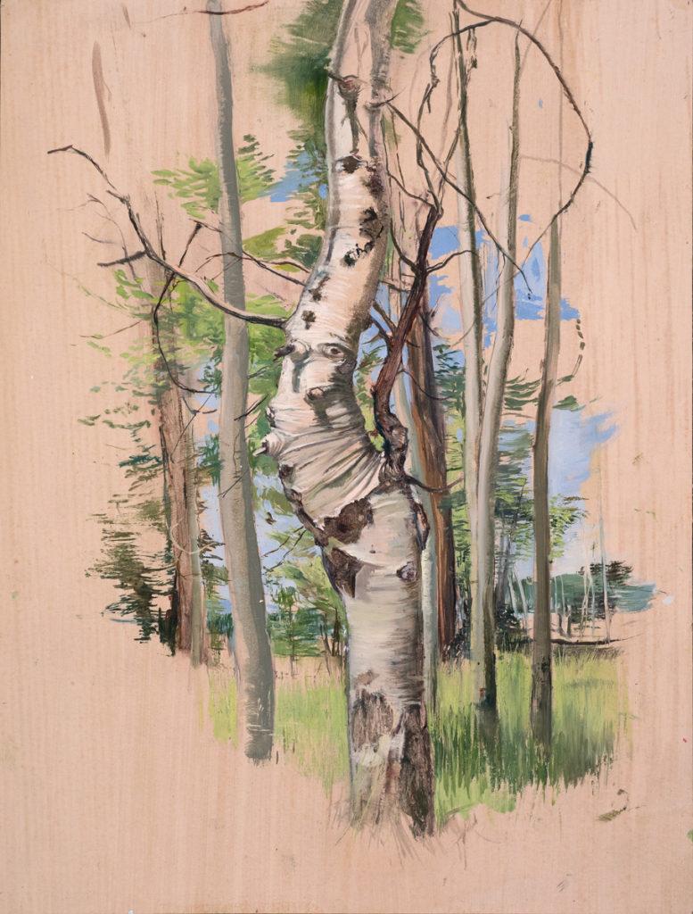 Diva Tree by Melanie Vote, oil on paper