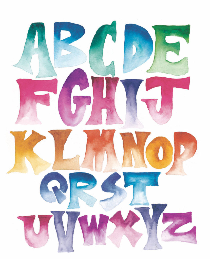 Watercolor Ombre | 10 Hand Lettering Techniques with an Artful Spin by Joanne Sharpe | Artists Network