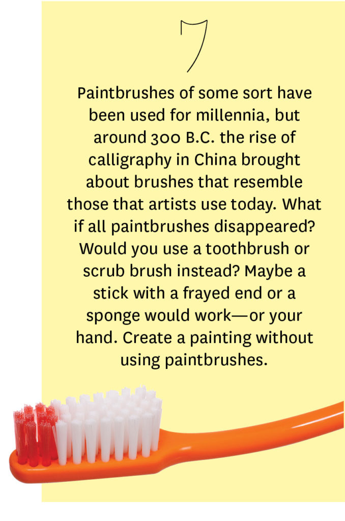 creative breakthroughs art prompts: paint without a brush