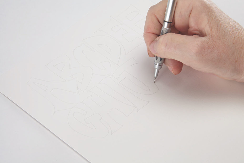 Seurat Dots, Step 1 | 10 Hand Lettering Techniques with an Artful Spin by Joanne Sharpe | Artists Network