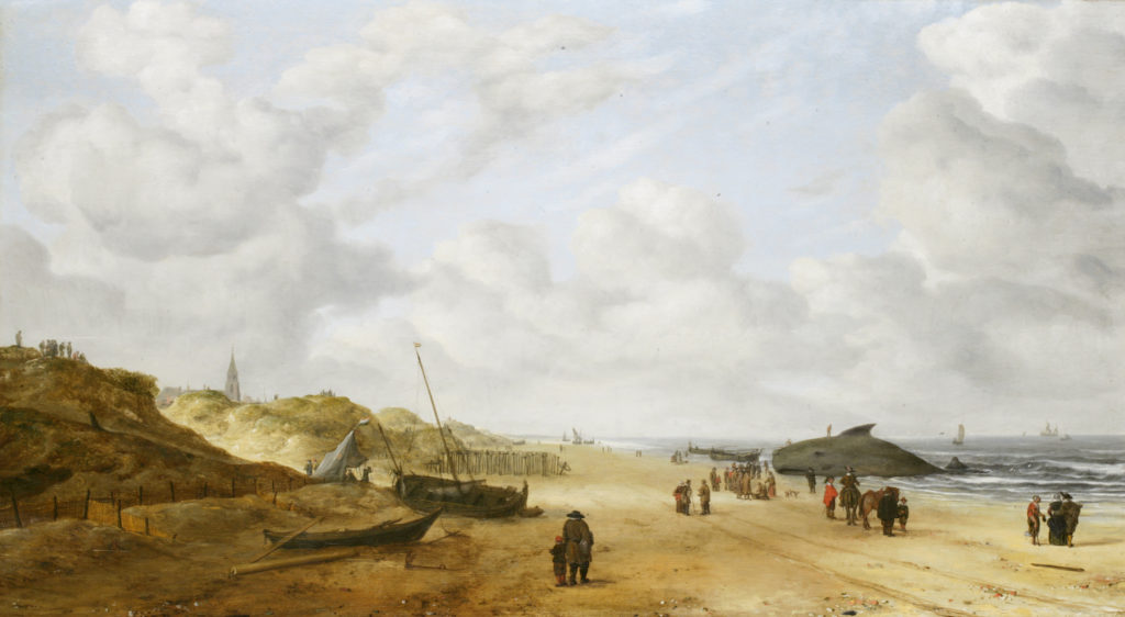 View of Scheveningen Sands by Hendrick van Anthonissen, after restoration | Learn All About Pentimento -- Repainting Your Art | Artists Network