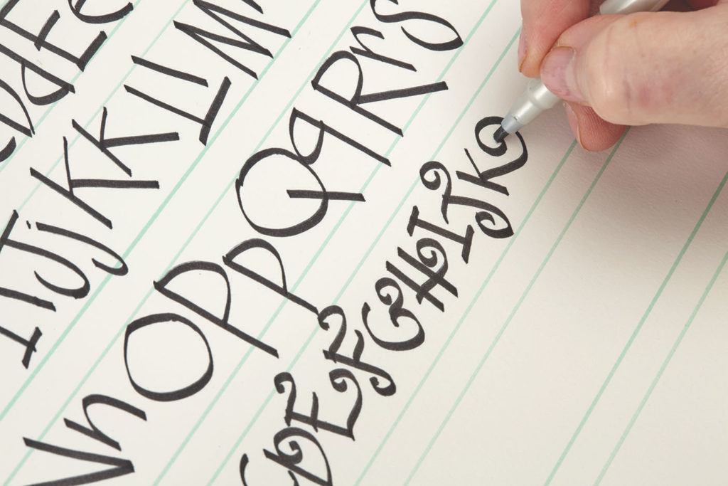 Artful Calligraphy, Step 2 | 10 Hand Lettering Techniques with an Artful Spin by Joanne Sharpe | Artists Network