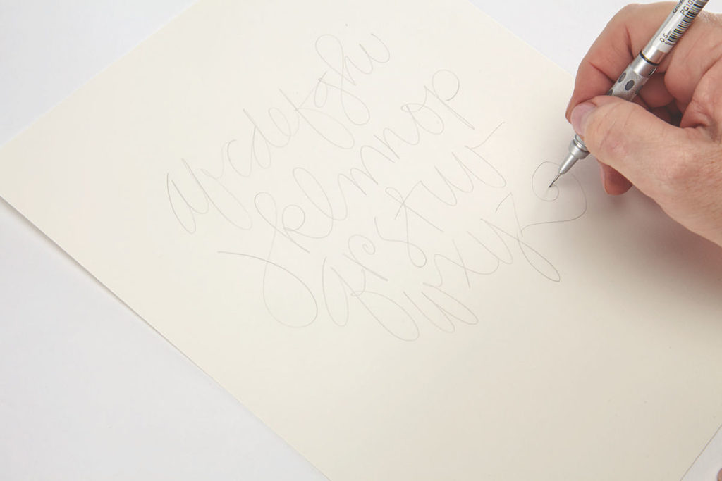 Creative Cursive, Step 1 |10 Hand Lettering Techniques with an Artful Spin by Joanne Sharpe | Artists Network