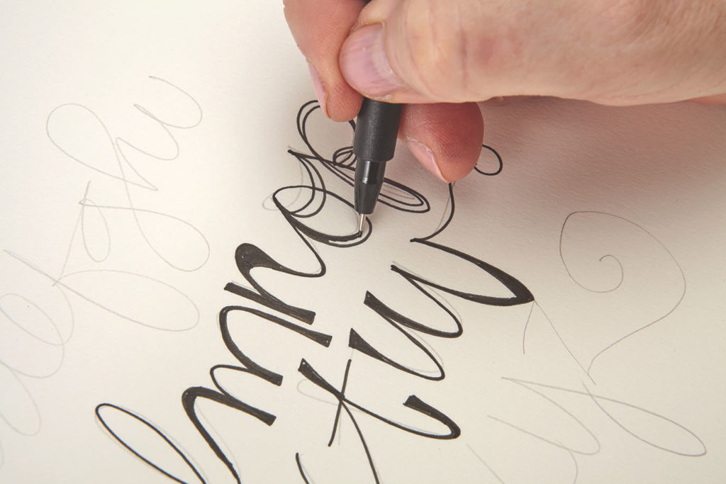 Creative Cursive, Step 2 |10 Hand Lettering Techniques with an Artful Spin by Joanne Sharpe | Artists Network