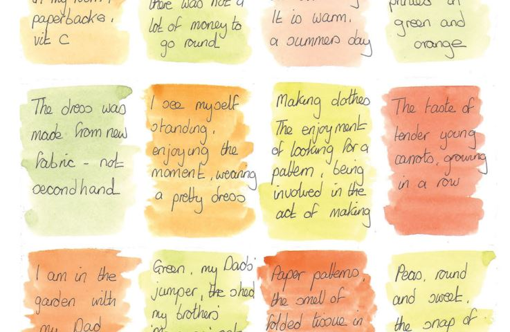 Chris Rodrigues' inspiring watercolor blocks combine writing and memory--two powerful inspirations for artists.